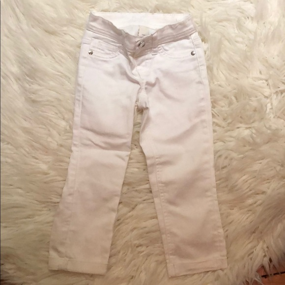 Justice Other - White Jean Capri pants girls